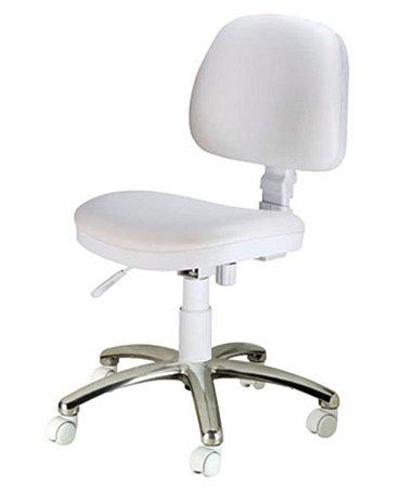 Cadeira Secretária com Base Cromada  Linha Confort Plus Cinza