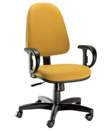 Cadeira Diretor com Braços Linha Confort Plus Amarelo