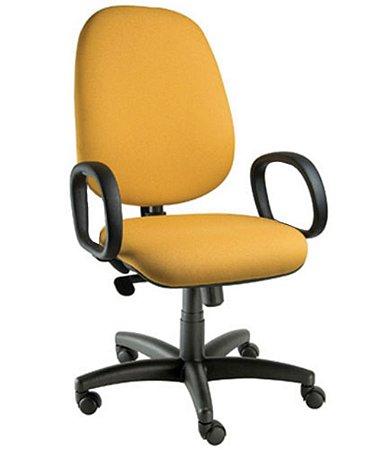 Cadeira Presidente com Braços Linha Confort Plus Amarelo