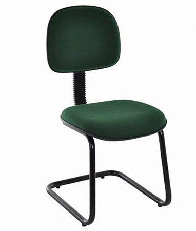 Cadeira Secretária Base Fixa em S Linha Economy Verde