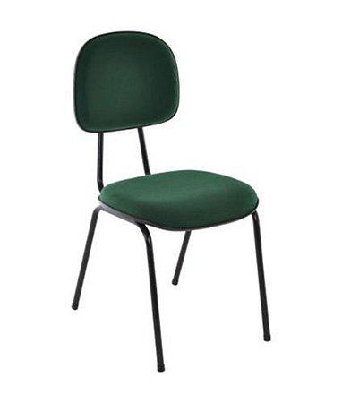 Cadeira Secretária Base Fixa Palito Linha Economy Verde