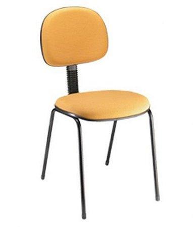 Cadeira Secretária Base Fixa Palito Linha Economy Amarelo
