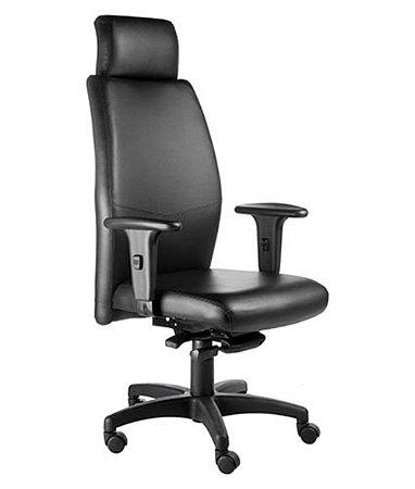 Cadeira Presidente  com apoio de cabeça Linha Ferrari Preto