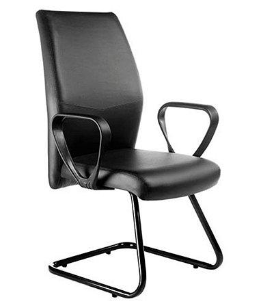 Cadeira Diretor Base Fixa em S  Linha Ferrari Preto