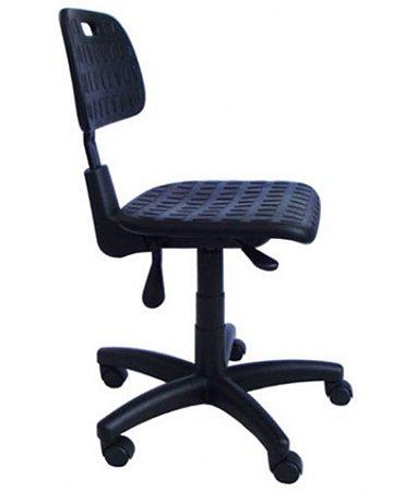 Cadeira Industrial Giratória Linha PU Industrial Preto