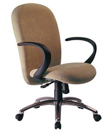 Cadeira Presidente com Braços Linha Lombar Marrom