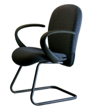 Cadeira Diretor com Braços e Base Fixa  Linha Lombar Preto
