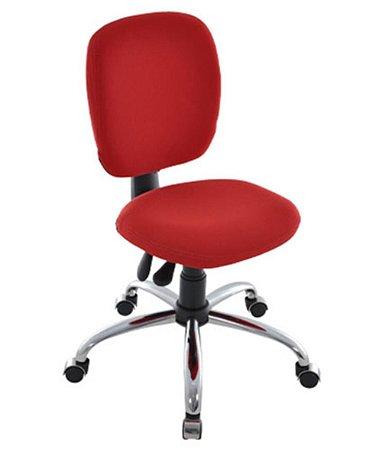 Cadeira Executiva com Back System Cromada  Linha Lombar Vermelho