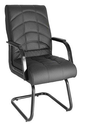 Cadeira Diretor  Base Fixa em S Linha Lyon Preto