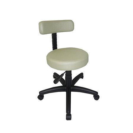 Cadeira Mocho para Dentistas, Esteticistas, Linha Mocho Branco