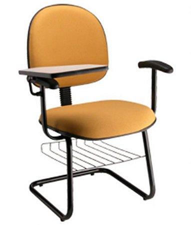 Cadeira Executiva Universitária  Base Fixa em S Linha Office Amarelo