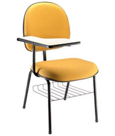 Cadeira Executiva Universitária com prancheta Linha Office Cor Amarelo