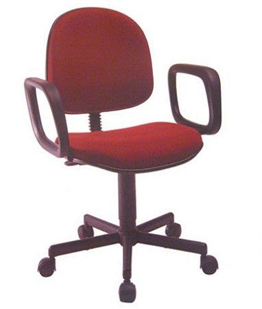 Cadeira Executiva Base Giratória com Braços Linha Office Vermelho