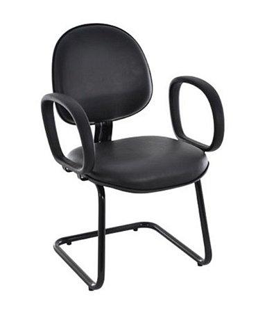 Cadeira Executiva base Fixa em S Linha Office Economy Preto