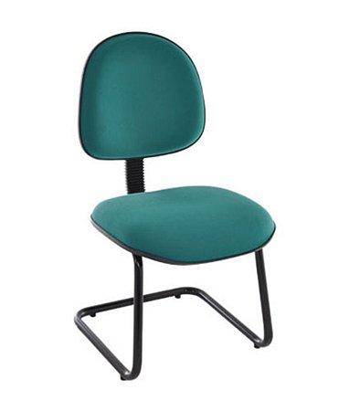 Cadeira Executiva base Fixa em S  Linha Office Economy Verde