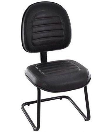 Cadeira Executiva Base Fixa em S Linha Office Gomada Preto