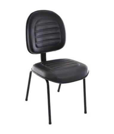 Cadeira Executiva Base Fixa Palito Linha Office Gomada Preto