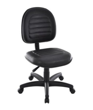 Cadeira Executiva Giratória Linha Office Gomada Preto
