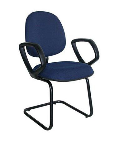 Cadeira Executiva Base Fixa em S  Linha Office Plus Azul
