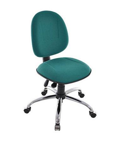 Cadeira Executiva Base Giratória Cromada Linha Office Plus Cor Verde