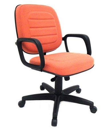 Cadeira Diretor Giratória suporta150 kg Linha Plus Size Vermelho