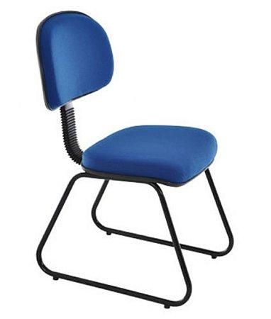 Cadeira Secretária com Base Fixa Trapézio Linha Robust Azul