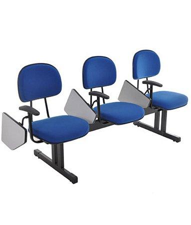 Cadeira Executiva em longarina com 3 lugares Linha Robust Cor Azul