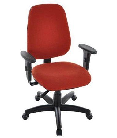 Cadeira Presidente com Braços Linha Safira Vermelho