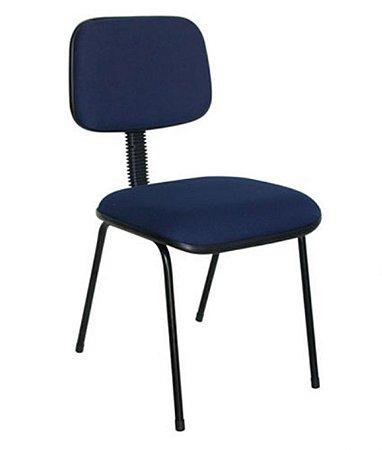 Cadeira Secretária Fixa Palito Linha Square Azul