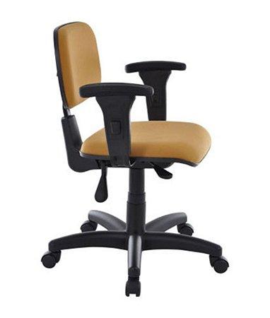 Cadeira Secretária Base Back System Linha Square Amarelo