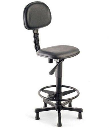 Cadeira Secretária Base Caixa Linha Square Preto