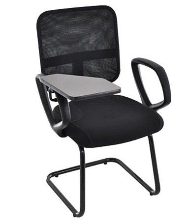 Cadeira Secretária Universitária Linha Tela Mesh Preto