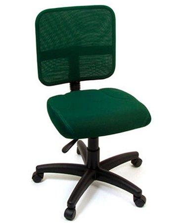 Cadeira Secretária com Back system Linha Tela Mesh Verde