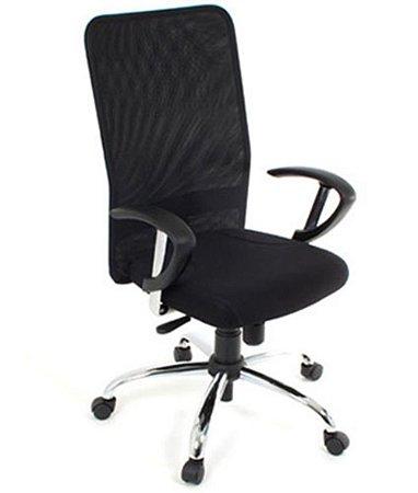 Cadeira Presidente com Braços  Linha Tela Mesh Preto