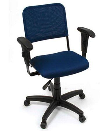 Cadeira Giratória  Linha Tela Mesh Hotel Auditório Azul