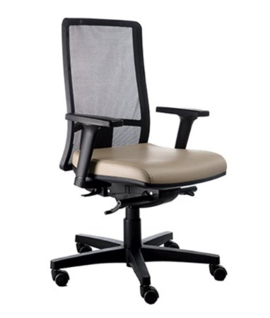 Cadeira Diretor com encosto Tela Mesh Linha Web Design Bege