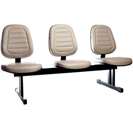 Cadeira Executiva em Longarina Linha Office Siena Cinza