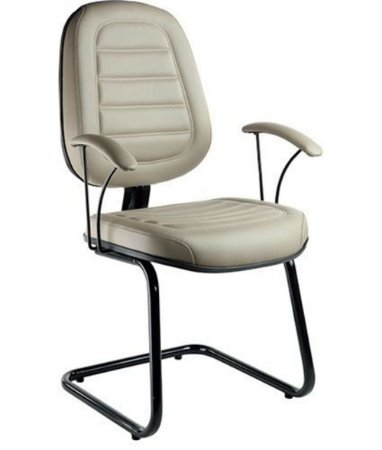 Cadeira Executiva com Braços Linha Office Siena Cinza