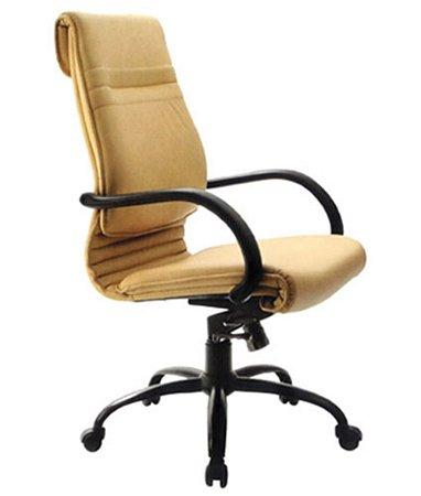 Cadeira Presidente Luxuosa com Braços Fixo Linha Chief Cor Amarelo