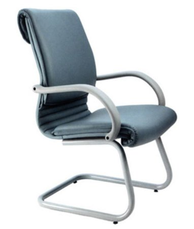 Cadeira Diretor Luxuosa com Braço Fixo Linha Chief Azul