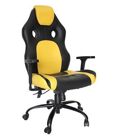 Cadeira Gamer Giratória Linha Gamer Racing Amarelo