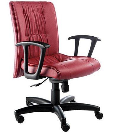 Cadeira Diretor  Base Giratória Linha Vicenza Vermelho