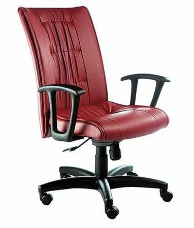 Cadeira Presidente Base Giratória Linha Vicenza Vermelho
