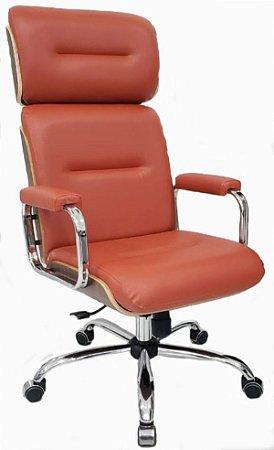 Cadeira Eames Presidente Linha Capa em Madeira Cor Telha