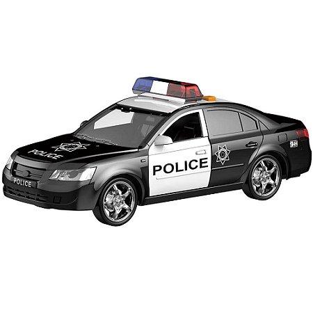 Carrinho de Polícia com luz e som e abertura de portas