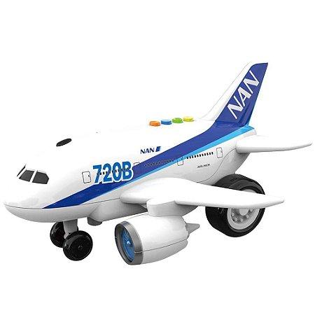 Avião de Brinquedo com Luz e Som 1:16