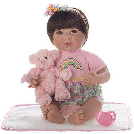 Boneca Bebe Reborn Laura Baby Catarina 14''