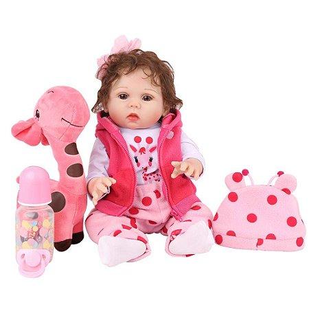 Boneca Bebe Reborn Laura Baby Emily 18''