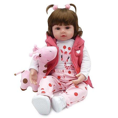 Boneca Bebe Reborn Laura Baby Mini Valentina 18''
