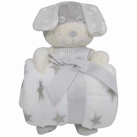 Cachorro De Pelúcia Com Cobertor Para Bebê